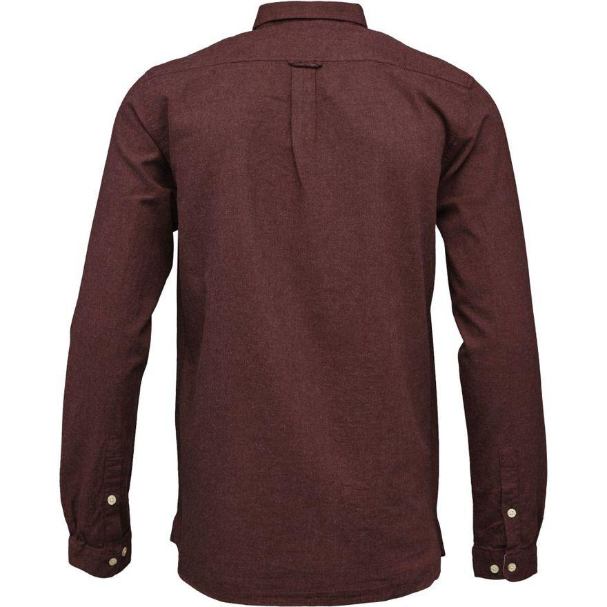 Melange Effect Flannel Shirt GOTS Decadent Chokolade – Bild 3