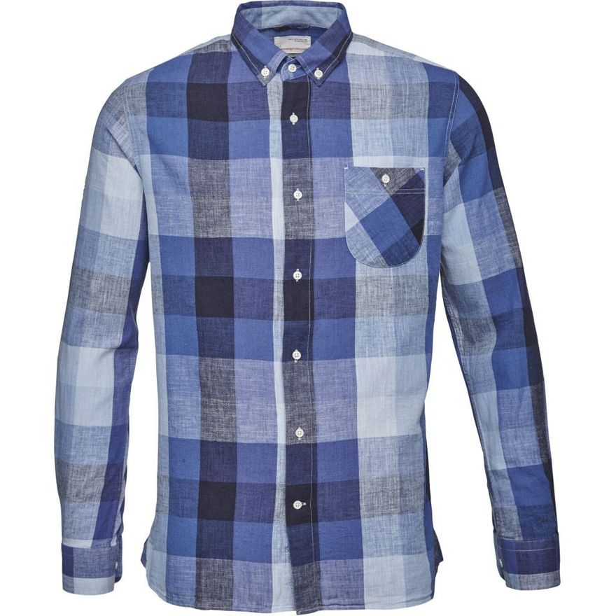 Linen Checked Shirt GOTS – Bild 1