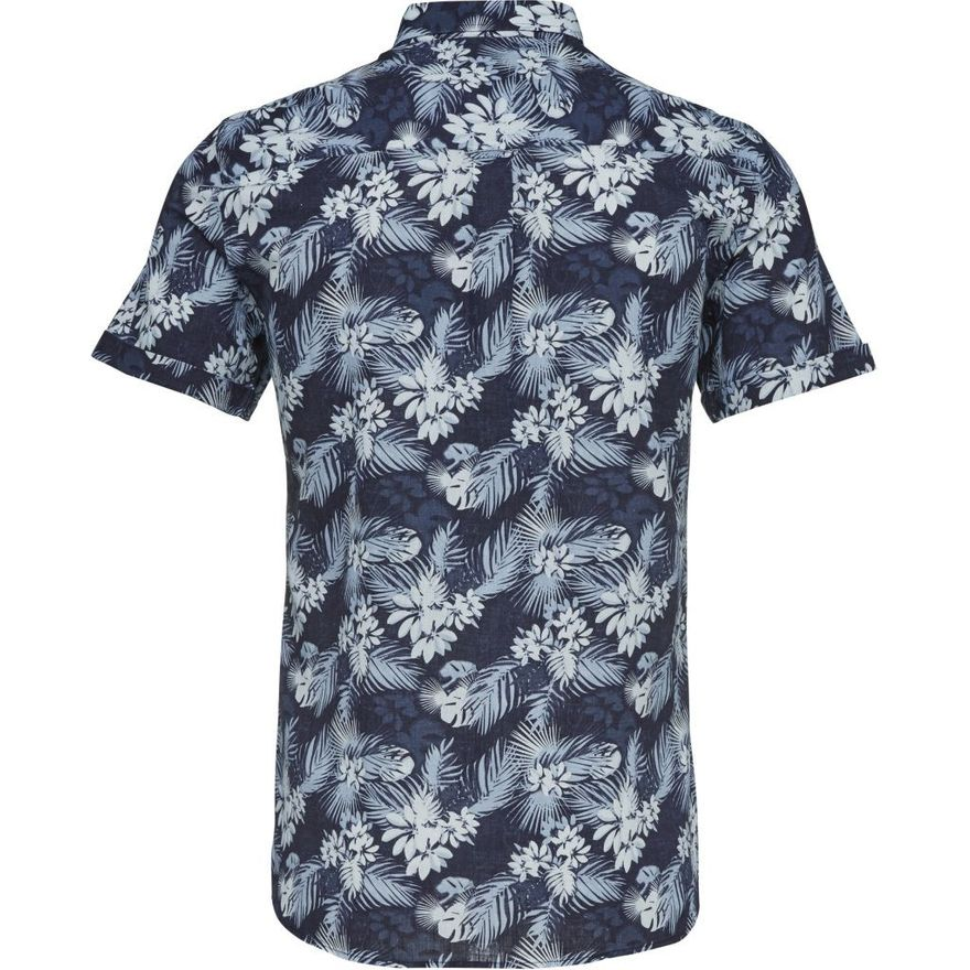 All over Printed Short Linen Shirt – Bild 4