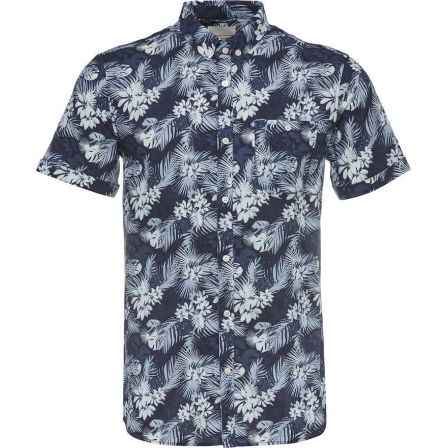All over Printed Short Linen Shirt