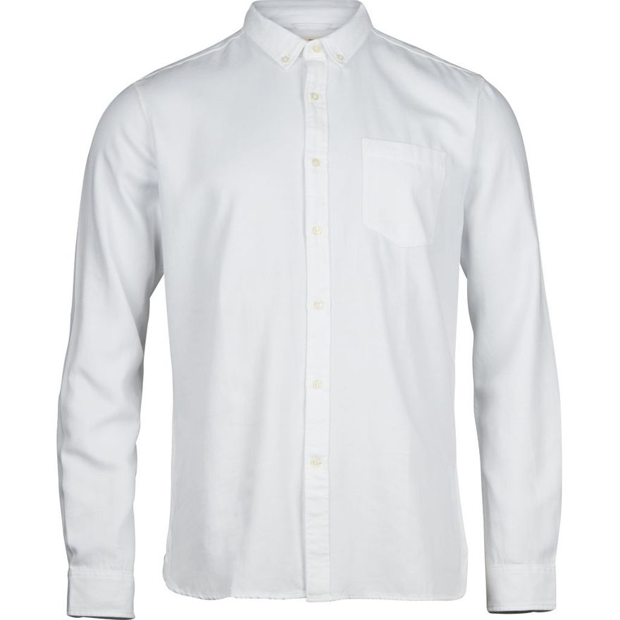 Twill Shirt Vegan Bright White – Bild 1