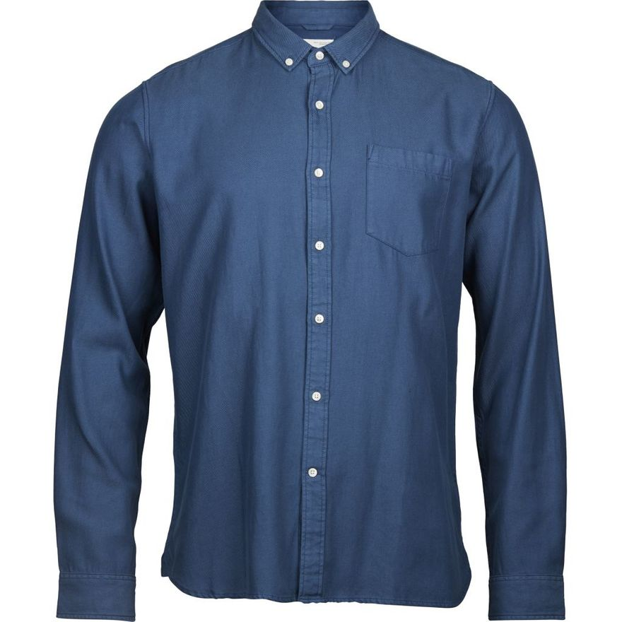 Twill Shirt Vegan Insigna Blue – Bild 1