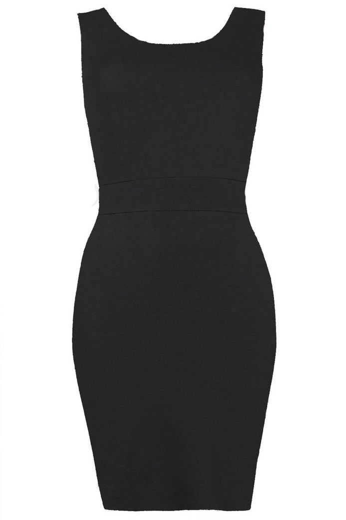 PERLA TWIST BACK BODYCON DRESS BLACK – Bild 1