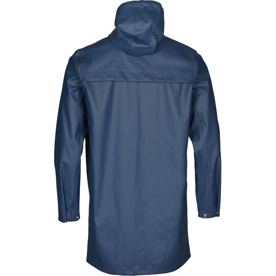 Long Rain Jacket Vegan Insigna Blue – Bild 4