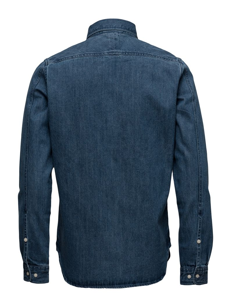 Denim Shirt W/Zipper - Gots – Bild 2