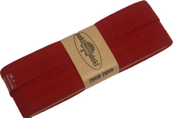 3m Jersey-Schrägband 40/20mm Nr. 600 Dunkelrot – Bild 1