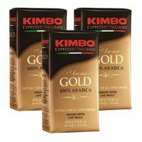 "3x Kaffee gemahlen Kimbo Caffé ""Aorma Gold"" 100% Arabica, 250 g"