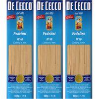 "3x De Cecco Nudeln ""Fedelini"" n.10, 500 g"