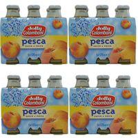 "4x Jolly Colombani Pesca succo e Polpa ""Pfirsichnektar"", 6x 125 ml"