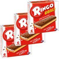 "3x Pavesi Ringo Kekse con crema al Latte ""Goal"", 165 g"