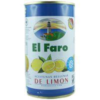 "El Faro ""Grüne Oliven mit Zitronenpaste"" Manzanilla-Oliven in Lake, 350g"