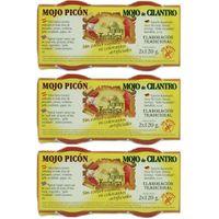 "3x Argodey Fortaleza Mojo Picón Mojo de Cilantro ""Scharfe Paprika + Koriandersauce"", 2x 120 ml"