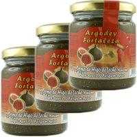 """3x Argodey Fortaleza Crema de Higo de Leche-Manzana """"Feigen-Apfel Creme"""", 200 g"""