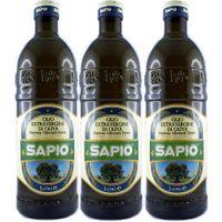 """3x Sapio Olio Extra Vergine di Oliva """"Olivenöl Extra Vergine"""", 1000 ml"""