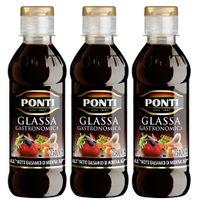 "3x Ponti Glassa Gastronomica ""Balsamicocreme"", 200 ml"