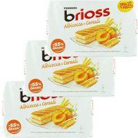 """3x Ferrero Kinder Albicocca e Cereali """"Brioss"""" Küchlein mit Aprikose und Getreide, 10 x 28 g"""