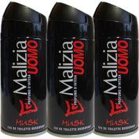 """3x Malizia Uomo Deo """"Musk"""", 150 ml"""