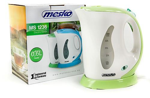 Reise-Wasserkocher Mesko MS1236  grün-weiß 760 Watt 0,6 Liter  – Bild 2