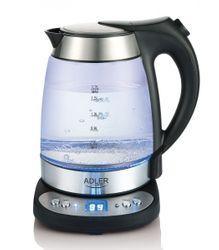 Glas-Wasserkocher mit Temperatureinstellung Adler AD1247 – Bild 1