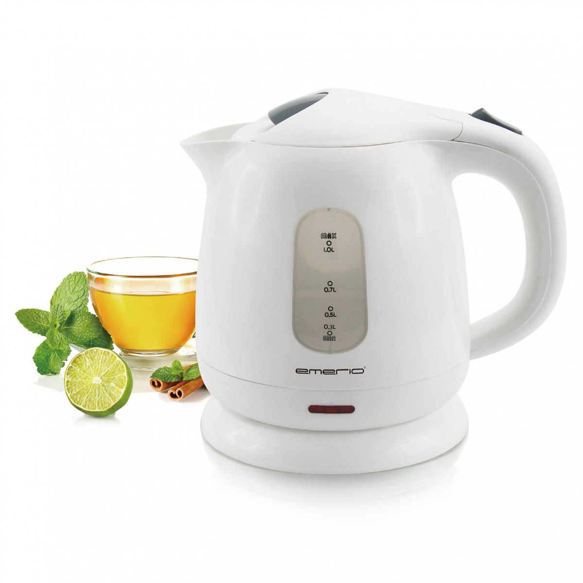 Wasserkocher weiß 1100 Watt Emerio WK-110598.1 – Bild 1