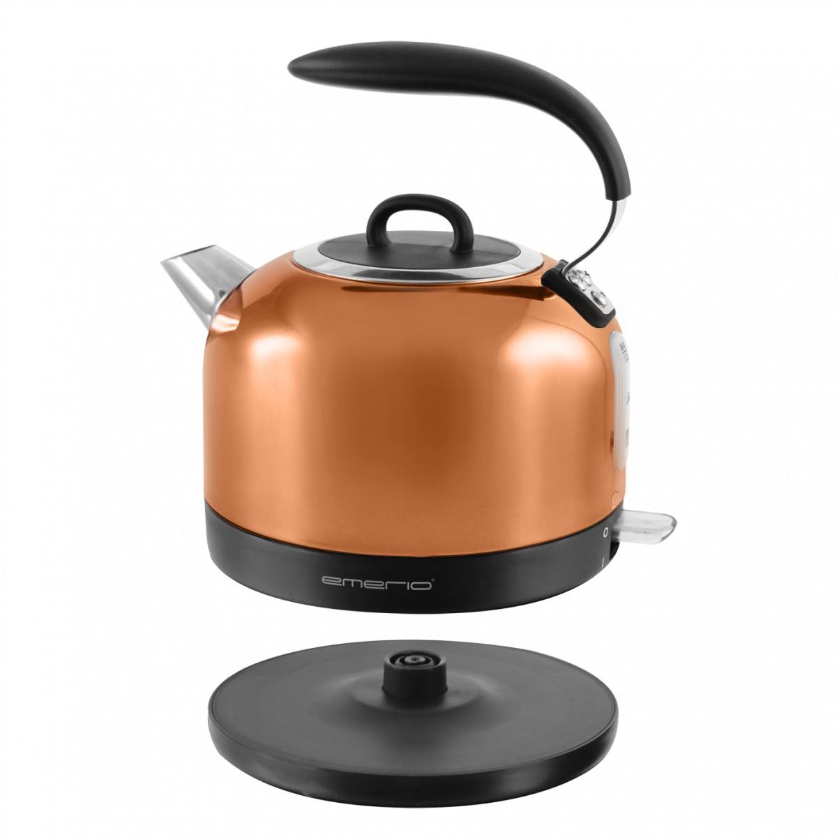 Wasserkocher kupfer-farben 2200 Watt Emerio WK-111081.1 – Bild 2