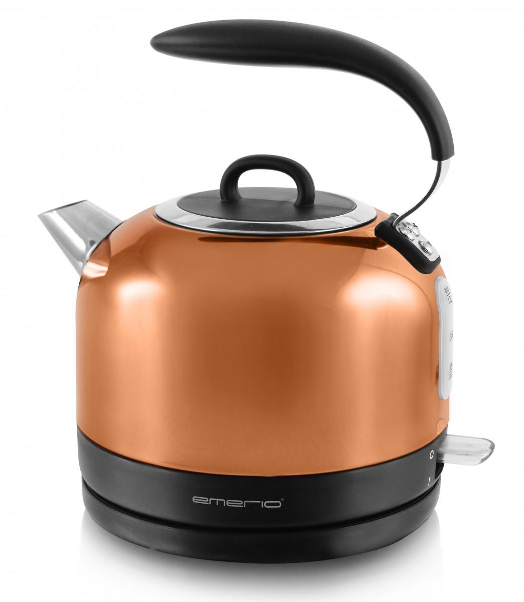 Wasserkocher kupfer-farben 2200 Watt Emerio WK-111081.1 Küchengeräte ...