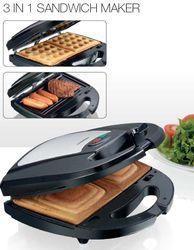 3in1 Kontakt-Grill, Waffeleisen und Sandwich-Maker Melissa 16240093 – Bild 1