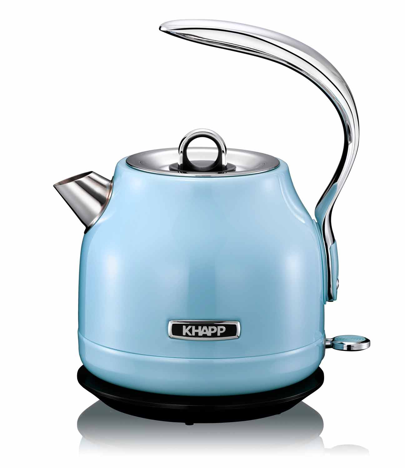 Retro design wasserkocher khapp 15130009 blau light blue for Wasserkocher retro design