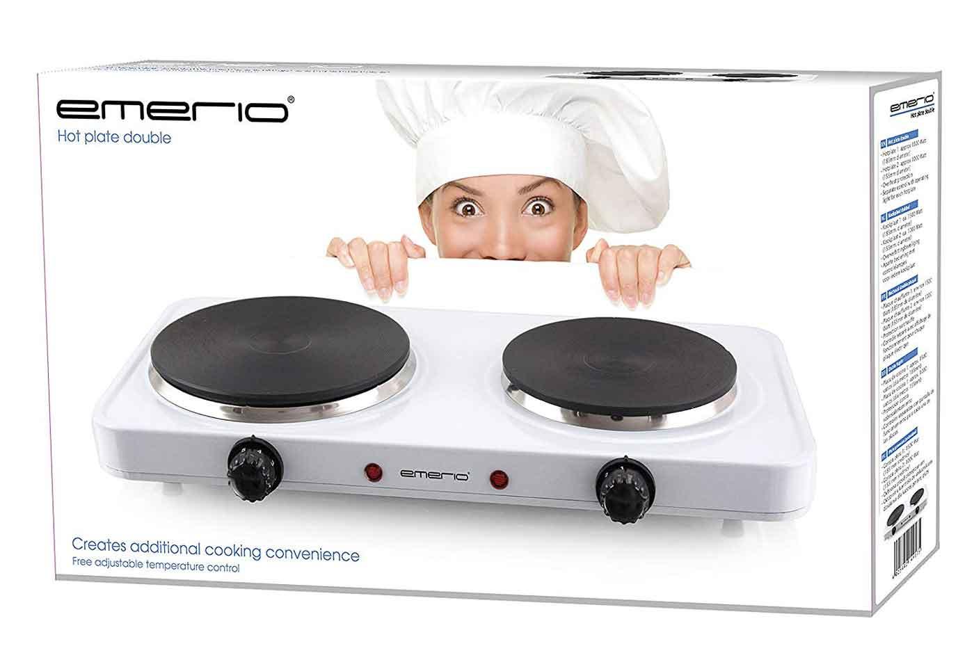Doppelkochplatte Emerio HP-109090.4 weiß Kochplatte – Bild 2