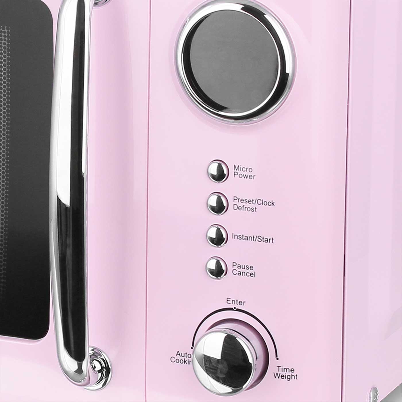 Mikrowelle Retro Design Emerio MW-112141.1 rosa / pink – Bild 2
