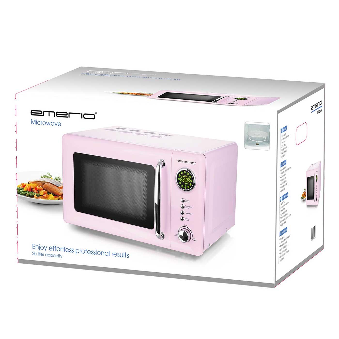 Mikrowelle Retro Design Emerio MW-112141.1 rosa / pink – Bild 3