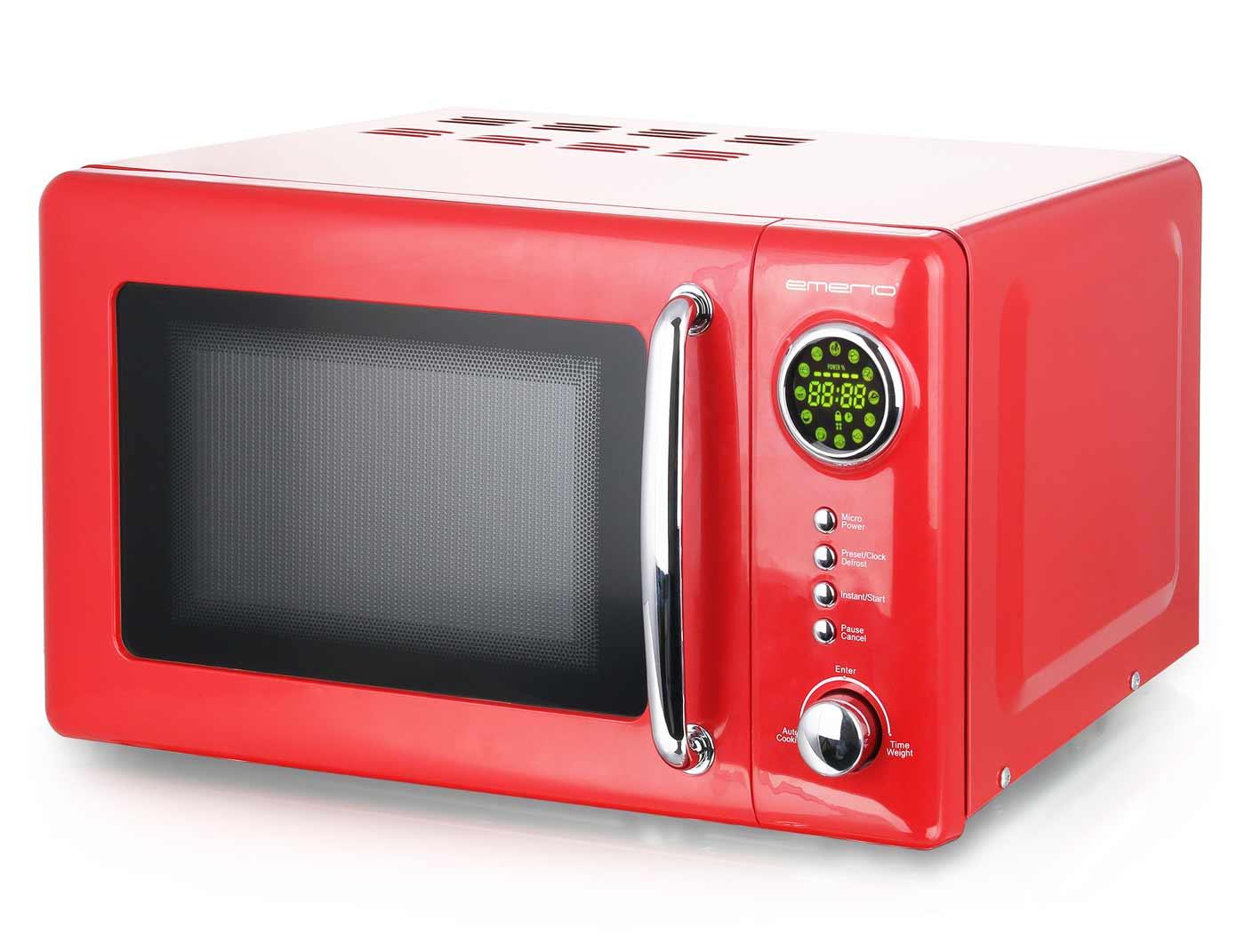 Mikrowelle Retro Design Emerio MW-112141 rot – Bild 1