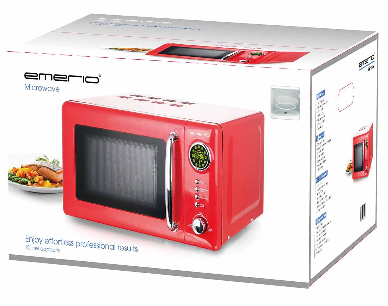 Mikrowelle Retro Design Emerio MW-112141 rot – Bild 3