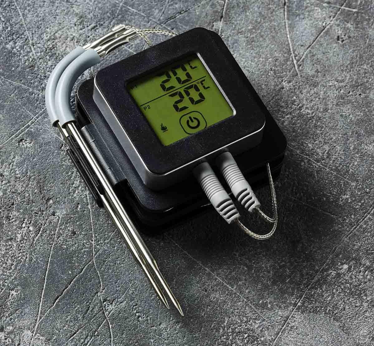 Bluetooth Grill-Thermometer Fleisch-Thermometer mit APP-Steuerung Orange 60690001 – Bild 2
