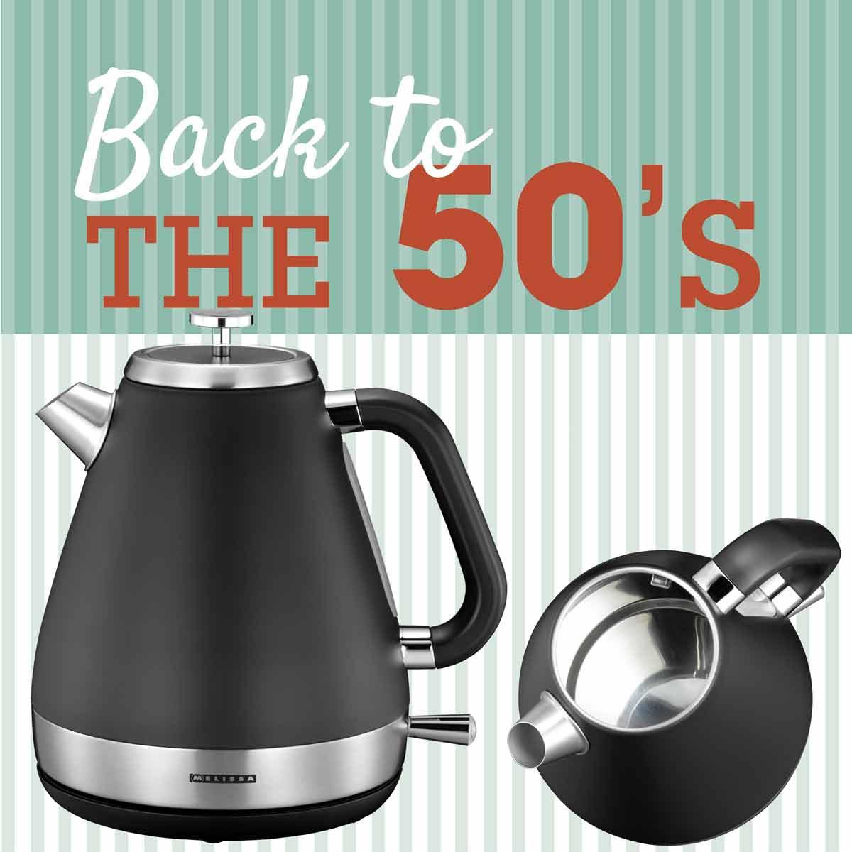 Melissa 16130298 Wasserkocher Retro Design der 50er Jahre 1,7 Liter – Bild 1