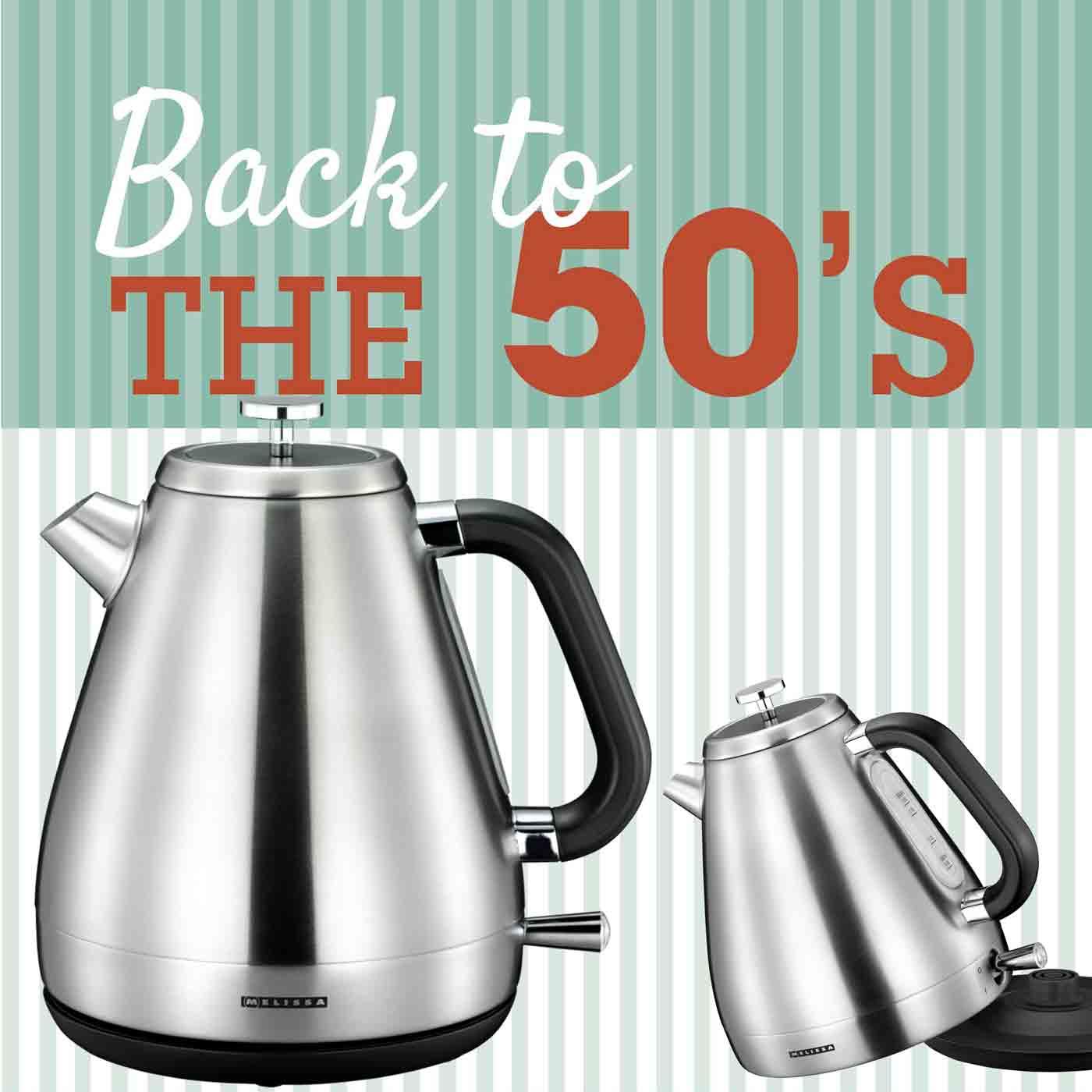 Melissa 16130297 Wasserkocher Retro Design der 50er Jahre 1,7 Liter – Bild 6
