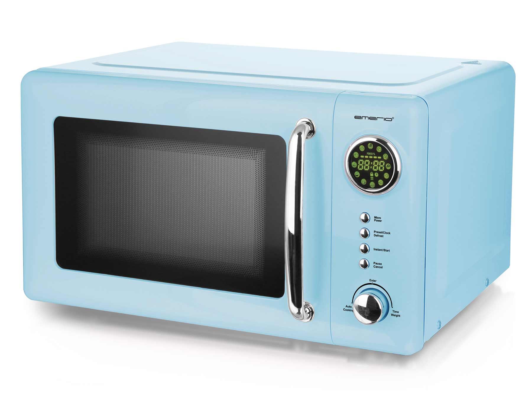 Mikrowelle Retro Design Emerio MW-112141.2 hell-blau / baby-blau – Bild 1