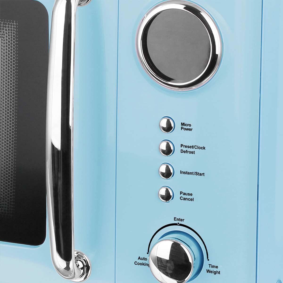 Mikrowelle Retro Design Emerio MW-112141.2 hell-blau / baby-blau – Bild 2
