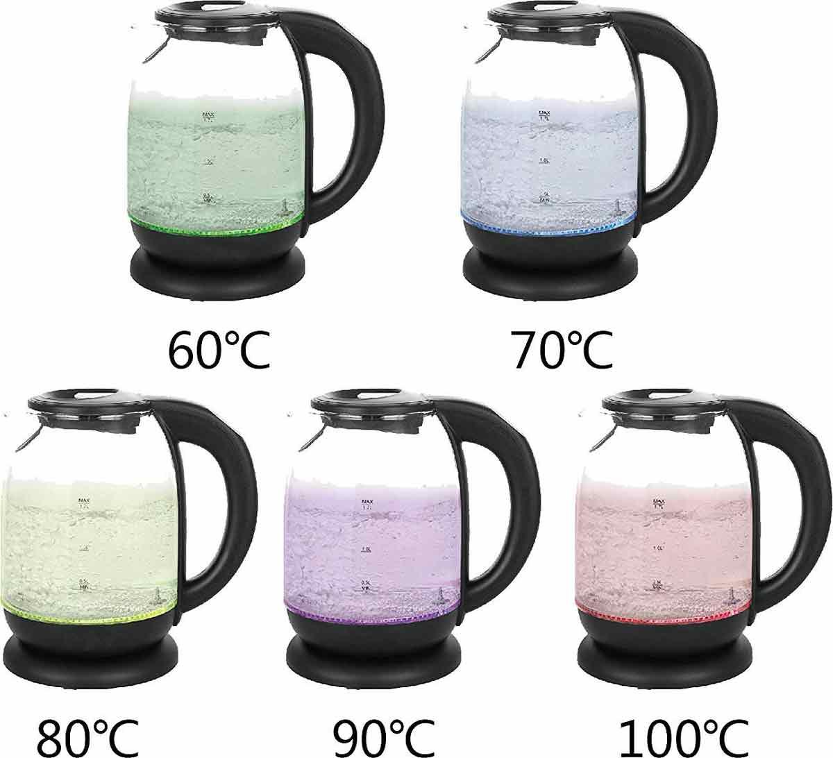 Glas-Wasserkocher mit Temperatur-Regelung und Tee-Filter Tee-Kocher Melissa 16130305 – Bild 5