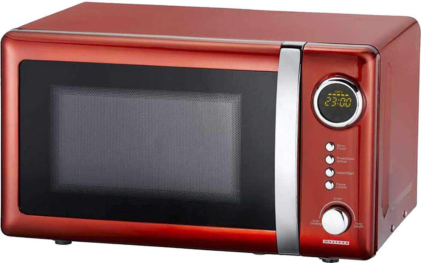 Classico Mikrowelle Retro Design Melissa 16330109 rot metallic – Bild 2