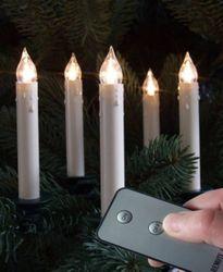 10 Kabellose LED Weichnachtsbaum Kerzen mit Fernbedienung – Bild 1