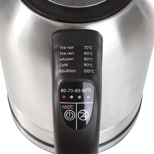 wasserkocher temperatur einstellbar domoclip dom110 temperatureinstellung kettle ebay. Black Bedroom Furniture Sets. Home Design Ideas
