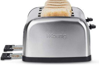 Edelstahl 4 Scheiben Toaster H.Koenig TOS14 – Bild 3