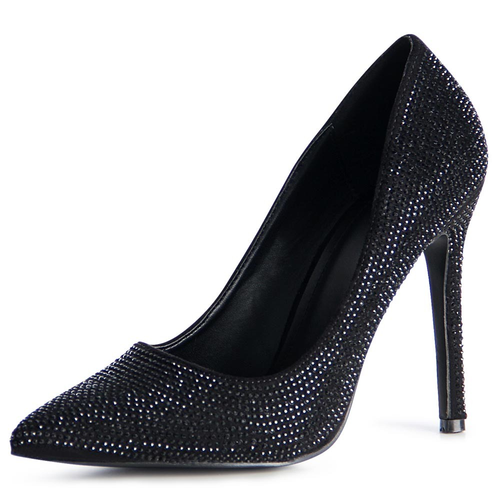 damen pumps stiletto glitzer party high heels ebay. Black Bedroom Furniture Sets. Home Design Ideas