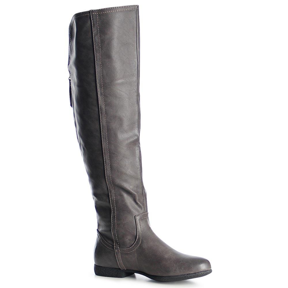 damen stiefel overknee boots reissverschluss ebay. Black Bedroom Furniture Sets. Home Design Ideas