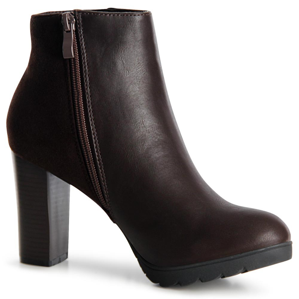 damen stiefeletten plateau ankle boots booties fransen ebay. Black Bedroom Furniture Sets. Home Design Ideas