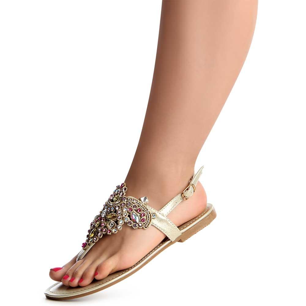 damenschuhe glitzer sandalen zehentrenner sandaletten ebay. Black Bedroom Furniture Sets. Home Design Ideas