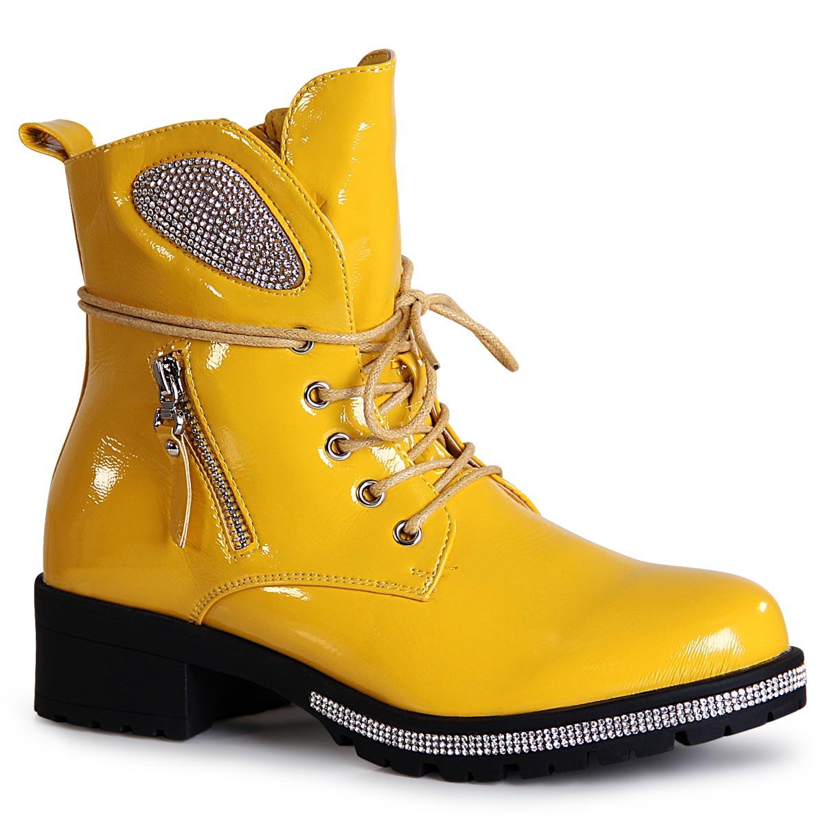 Details about Ladies Platform Ankle Boots Glitter Worker Biker Boots Booties Boots show original title