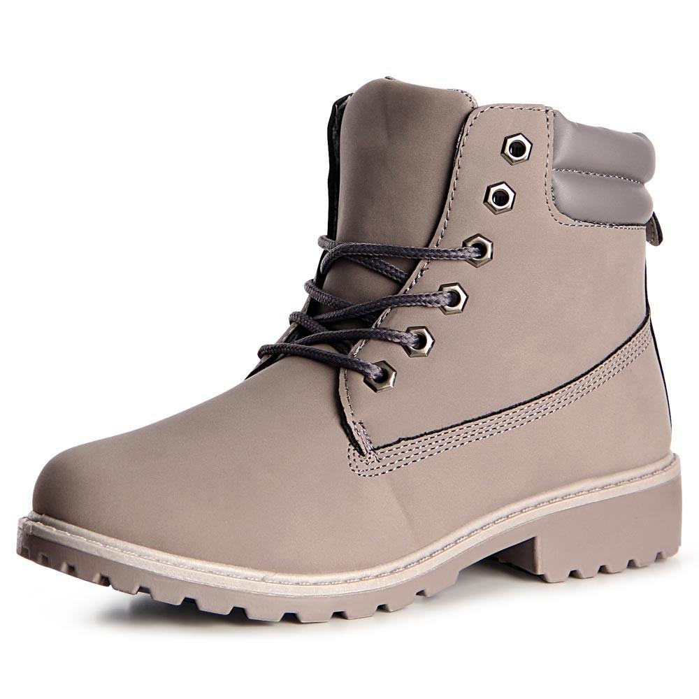 Damen Worker Boots Stiefeletten Stiefel Booties Schn rboots Schn rschuhe