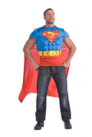 Superman Muscle Chest Shirt - Adult
